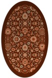 rug #1279627 | oval red-orange damask rug