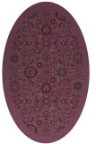 rug #1279647   oval purple damask rug