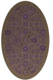 rug #1279655 | oval mid-brown borders rug
