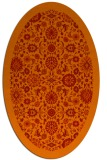 rug #1279667 | oval red damask rug