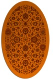 rug #1279679 | oval red-orange damask rug