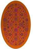 rug #1279687   oval red-orange borders rug