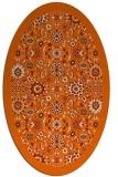 rug #1279691   oval red-orange borders rug