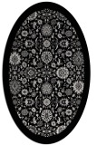 rug #1279695 | oval white borders rug