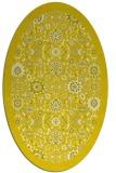 rug #1279699 | oval white damask rug