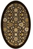 rug #1279707   oval brown damask rug