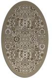 rug #1279719 | oval white borders rug