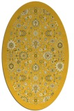 rug #1279723 | oval yellow traditional rug