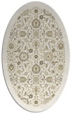 rug #1279727 | oval white traditional rug