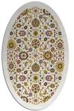 rug #1279731 | oval yellow damask rug