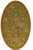 rug #1279735 | oval light-orange damask rug