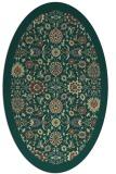 rug #1279739   oval yellow borders rug