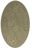 rug #1279747 | oval light-green rug