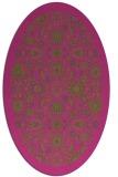 rug #1279751   oval pink damask rug