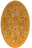 rug #1279763 | oval light-orange damask rug