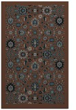 rug #1279787 |  brown traditional rug
