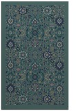rug #1279811 |  blue-green damask rug