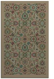rug #1279883 |  mid-brown damask rug