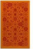 rug #1280035 |  orange damask rug