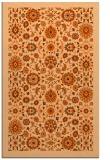 rug #1280051 |  red-orange damask rug
