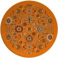 rug #1280139 | round beige damask rug