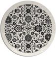 rug #1280143 | round white borders rug