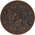 rug #1280155 | round brown damask rug
