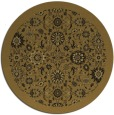 rug #1280159 | round mid-brown damask rug