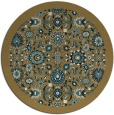 rug #1280167 | round brown damask rug