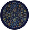 rug #1280171 | round blue borders rug
