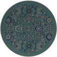 rug #1280179 | round blue-green borders rug