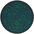 rug #1280203 | round blue borders rug