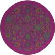 rug #1280219 | round pink borders rug