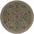 rug #1280251 | round mid-brown traditional rug