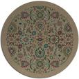 rug #1280251 | round mid-brown damask rug