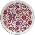 rug #1280255 | round red traditional rug