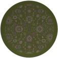 rug #1280279 | round green rug
