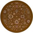 rug #1280291 | round brown borders rug