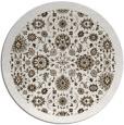 rug #1280303 | round mid-brown damask rug