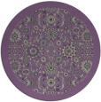 rug #1280327 | round purple traditional rug