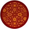 rug #1280351 | round orange damask rug