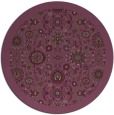 rug #1280383   round purple damask rug