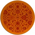 rug #1280403 | round red traditional rug