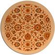 rug #1280419 | round red-orange damask rug