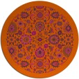 rug #1280423 | round red-orange damask rug