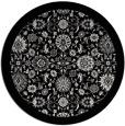 rug #1280431 | round black damask rug