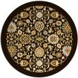 rug #1280443 | round brown borders rug