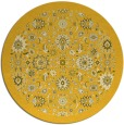 rug #1280459 | round yellow damask rug