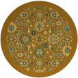 rug #1280471 | round yellow traditional rug