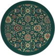 rug #1280475 | round yellow traditional rug
